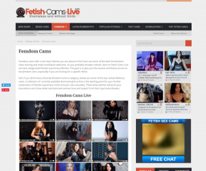 Fetish-Cams-Live review - BEST FEMDOM PORN SITES